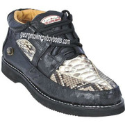 Men's Los Altos Python and Ostrich Casual Shoes ZA055749N