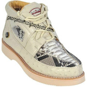 Men's Los Altos Python and Ostrich Casual Shoes ZA055749