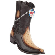 Men's Wild West Ostrich With Deer Boots Dubai Toe Handcrafted 279BF0315
