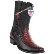 Men's Wild West Ostrich With Deer Boots Dubai Toe Handcrafted 279BF0343