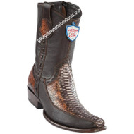 Men's Wild West Python With Deer Boots Dubai Toe Handcrafted 279BF5788