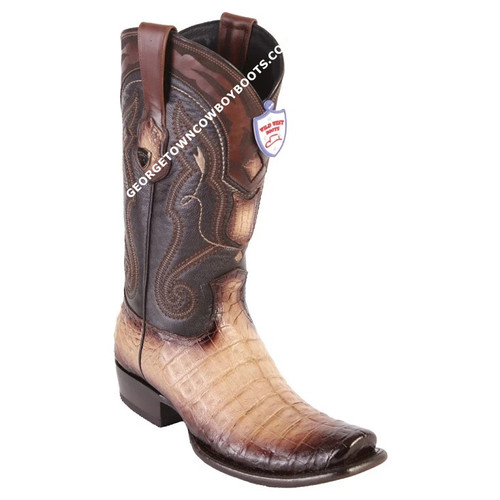 Men's Wild West Caiman Belly Boots Dubai Toe Handcrafted 2798215