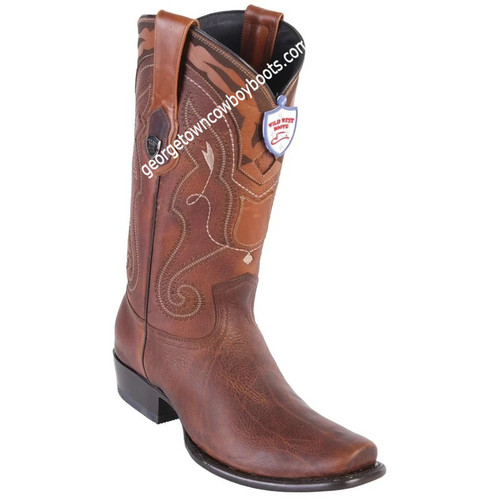Men's Wild West Leather Boots Dubai Toe Handcrafted 2799940