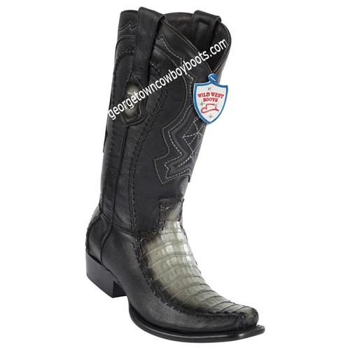 Men's Wild West Caiman Belly Boots Dubai Toe Handcrafted 279F8238