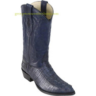 Mens Navy Blue Caiman Tail Western Boots by Los Altos  990110