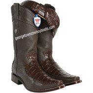 Men's Wild West Caiman Belly With Deer Cowboy Boots Square Toe Handcrafted 278T8207
