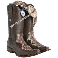 Men's Wild West Python Snakeskin With Deer Boots Handcrafted 278T5785