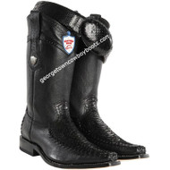 Men's Wild West Python Snakeskin With Deer Boots Handcrafted 278T5705