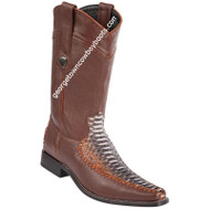 Men's Wild West Python Boots Square Toe Handcrafted 278T5788
