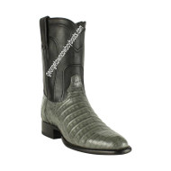 Men's Los Altos Caiman Belly Roper Boots Handcrafted 698209