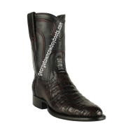 Men's Los Altos Caiman Belly Roper Boots Handcrafted 698218