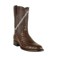 Men's Los Altos Caiman Belly Roper Boots Handcrafted 698207