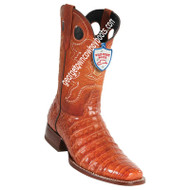 Men's Wild West Square Toe Caiman Belly Boots Handcrafted 28188203