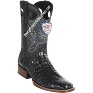 Men's Wild West Square Toe Caiman Belly Boots Handcrafted 28188205