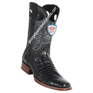 Men's Wild West Square Toe Caiman Belly Boots Handcrafted 28188218