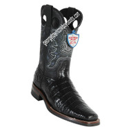 Men's Wild West Caiman Belly Boots With Rubber Sole Square Toe Handcrafted 28198205