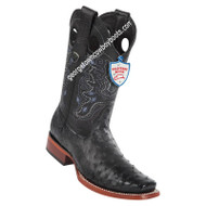 Men's Wild West Full Quill Ostrich Square Toe Boots Handmade 28180305