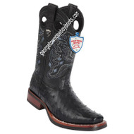 Men's Wild West Full Quill Ostrich Square Toe Rubber Sole Boots 28190305