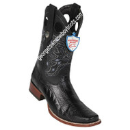 Men's Wild West Square Toe Ostrich Leg Boots Handcrafted 28180505