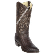 Men's Los Altos Caiman Belly Round Toe Boots Handcrafted 65G8207