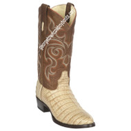 Men's Los Altos Caiman Belly Round Toe Boots Handcrafted 65G8251