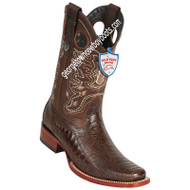 Men's Wild West Square Toe Ostrich Leg Boots Handcrafted 28180507