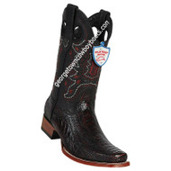 Men's Wild West Square Toe Ostrich Leg Boots Handcrafted 28180518