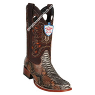 Men's Wild West Python Square Toe Boots Handcrafted 28185788