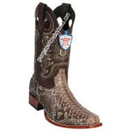 Men's Wild West Python Square Toe Boots Handcrafted 28185785