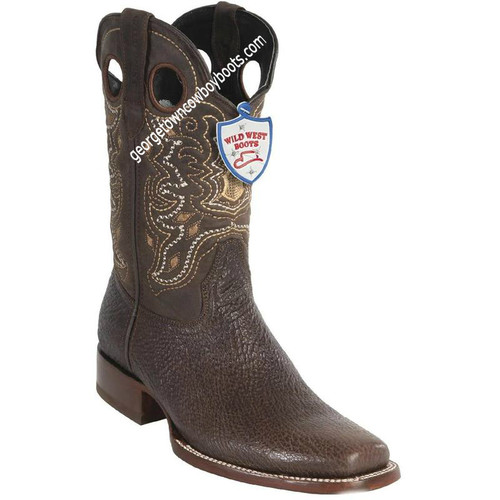 Men's Wild West Sharkskin Boots Square Toe Handcrafted 28189307