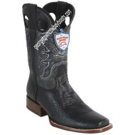 Men's Wild West Sharkskin Boots Square Toe Handcrafted 28189305