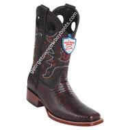 Men's Wild West Teju Lizard Square Toe Boots Handcrafted 28180718