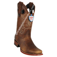 Men's Wild West Rage Leather Square Toe Boots Handmade 28189951