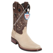 Men's Wild West Grisly Leather Square Toe Rubber Sole Boots 28192709