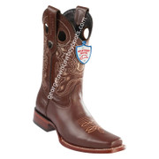 Men's Wild West Pull Up Leather Square Toe Boots Handmade 28183807