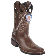 Men's Wild West Pull Up Leather Square Toe Rubber Sole Boots 28193807