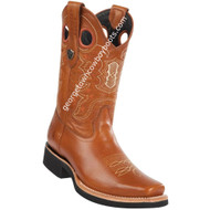 Men's Wild West Leather Boots Square Toe Handcrafted 2813E3851