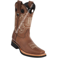Men's Wild West Leather Boots Square Toe Handcrafted 2813E2707