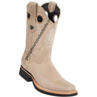 Men's Wild West Leather Boots Square Toe Handcrafted 2813E2709