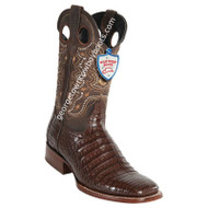 Men's Wild West Wide Square Toe Caiman Belly Boots Handcrafted 28248207