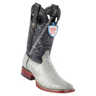 Men's Wild West Wide Square Toe Caiman Belly Boots Handcrafted 28248209