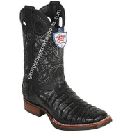 Men's Wild West Caiman Belly Boots Wide Square Toe Rubber Sole Handcrafted 28258205