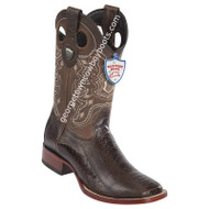 Men's Wild West Wide Square Toe Ostrich Leg Boots Handcrafted 28240507