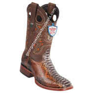 Men's Wild West Python Wide Square Toe Boots Handcrafted 28245788