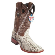 Men's Wild West Python Wide Square Toe Boots Handcrafted 28245749
