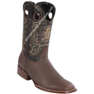 Men's Wild West Sharkskin Boots Square Toe Handcrafted 28249307