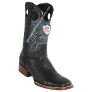 Men's Wild West Sharkskin Boots Square Toe Handcrafted 28249305