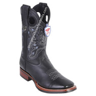 Men's Wild West Boots With Rubber Sole Genuine Leather Square Toe Handcrafted 28252705