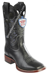 Men's Wild West Boots Genuine Leather Square Toe Handcrafted 28243805