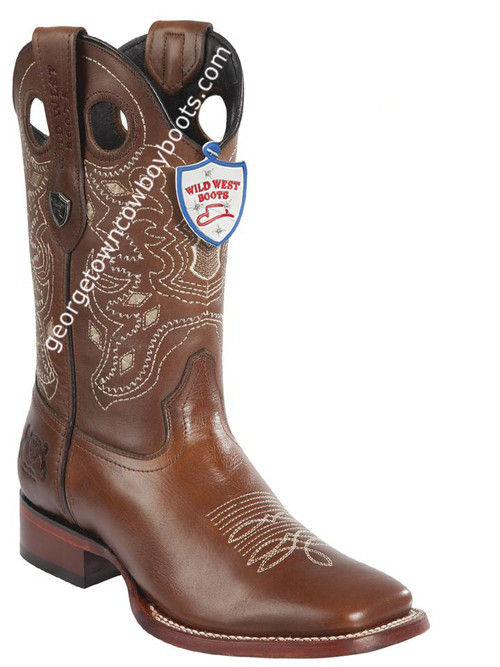 Men's Wild West Boots Genuine Leather Square Toe Handcrafted 28243807
